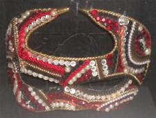Mardi Gras Carnivale Mask Shadow Box Red Black White Charles R. Moniz Signed kv