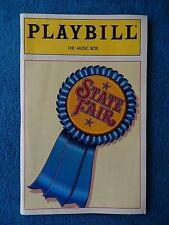 State Fair - Music Box Theatre Playbill w/Ticket - April 18th, 1996 - Davidson