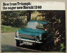 TRIUMPH HERALD 13/60 Car Sales Brochure 1967-68 #385/1267/UK SALOON Estate CVT