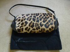 GUISEPPE ZANOTTI DESIGN Leopard Print Pony Hair/Black Leather Shoulder Bag