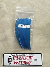 trueflight 12.7cm plumes aile gauche Parabolique douzaine Bleu