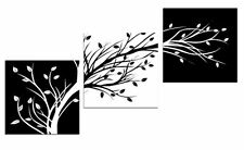 3 Panel Flower Wall Artwork Abstract Painting Canvas Living Room Home