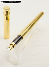 Diplomat Attache Fountain Pen in Gold-Plated Cisele with M-nib made in W.Germany