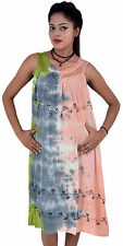 Pack of 10 Women's Sleeveless Tie Dye Casual Dress