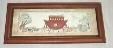 """Framed Print L. Spivey Noah & Ark """"And they came Two by Two"""""""