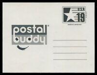 CVUX3a 19c STAR & FLAG PLUS LOGO POSTAL BUDDY CARD #3a