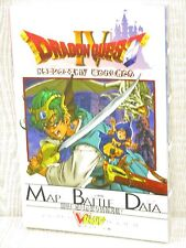 DRAGON QUEST IV 4 Guide w/Poster PS Book VJ78*