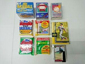 (Lot of 7) Baseball Collector's Trading Cards Set Fleer Topps Upper Deck