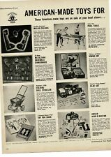 1953 AMERICAN TOY INSTITUTE American Made Toys 6 pages of toys VTG PRINT AD