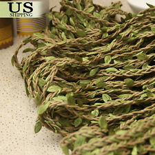 164ft Artificial Leaf Vine Garland Plant Fake Foliage Flower Wreath Home Wedding