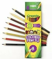 Crayola Multicultural Colored Pencils 8 Pack Skin Tone Reforested Smooth Color