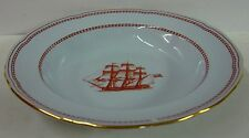 """Spode TRADE WINDS RED Rim Soup Bowl (8-1/8"""") W128 Multiple Available GOLD TRIM"""