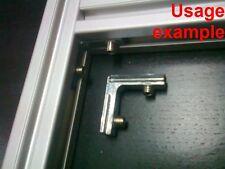 Aluminum T-slot profile 90L deg inside corner connector 20x20-6mm, 8-set
