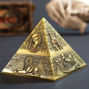 New pyramid Metal Ashtray Home Decor Hotel Ktv Vintage  Ornaments Gift