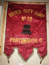 Huge 1912 Woodmen of the World W.O.W. Parade Banner