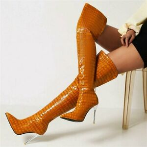 Sexy Thigh Boots Women Pointed Toe Stiletto Pumps Over the Knee Boots Winter New
