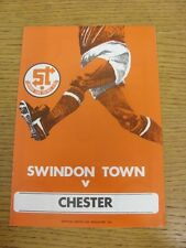 03/02/1979 Swindon Town v Chester  . Condition: We aspire to inspect all of our
