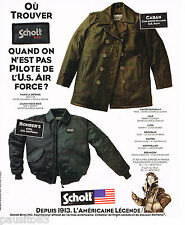 PUBLICITE ADVERTISING 065  1996  SCHOTT   caban bomber's  USA AIR FORCE
