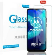 3 Pack For Motorola Moto G8 Tempered Glass Screen Protector Invisible SHIELD