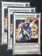 Set 3X GUERRIERO POTENTE  LVAL-IT096 Synchro Comune in Italiano YUGIOH