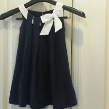 I Gianburrasca blue cotton bow dress 3, 4, & 5 NWT