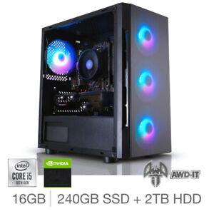 PC With Intel Core i5, 8GB RAM, 240GB SSD, 2TB HDD, Nvidia GT 710. Windows 10