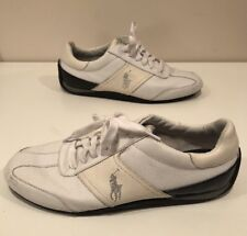 Polo Ralph Lauren Bentwinds White Leather Mens Shoes Casual Size 12 D
