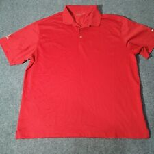 Nike Golf Polo Dri Fit Shirt Mens Adult XLarge Size Red Short Sleeve Collared XL