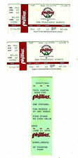 2 - 8/16/1990 PHILLIES VS SAN FRANCISCO GAME & 1 - FREE POPCORN TICKET 6/2/1990