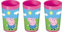 3 For £5.99 Peppa Pig Children's Plastic Tumbler 25cl