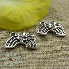 free ship 220 pcs  tibetan silver rainbow charms 20x12mm #3951