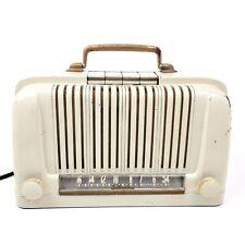 Vtg 1947 Sears Silvertone Table Top Tube Radio 6012 Industrial Bakelite Ivory
