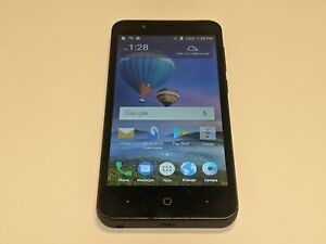 ZTE ZFive C Z558VL TracFone Wireless 16GB Black Android Smartphone/Cell Phone