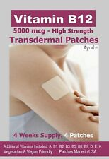 Vitamin B12-5000mcg (High Strength) Plus Additional Vitamins - Transdermal Patch