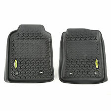 Floor Liners, Front, Black, 12-17 Toyota Hilux
