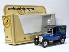 MATCHBOX #Y5 Diecast van 1927 TALBOT VAN MENIER MOY 1978 New in opened Box