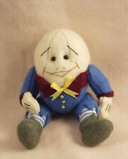 """DEB CANHAM  """"HUMPTY DUMPTY"""" WOOL FELT  IN BLUE SUIT- 4""""- JOINTED"""