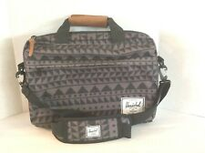 Herschel Light Plump/ Gray/ Black Geometric Detail Laptop  Cross body Case Bag