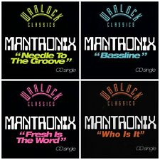 RARE new MANTRONIX CD singles LOT Who Is It,Bassline,Fresh Is The Word,Needle...