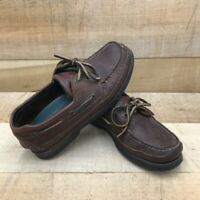 Sperry Top-Sider Mako Mens Canoe Boat Shoes Brown Leather 2 Eye Non-Marking 8 M
