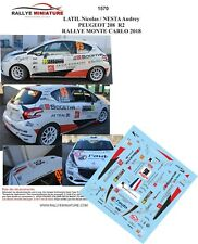 DECALS 1/43 REF 1570 PEUGEOT 208 R2 NICOLAS LATIL RALLYE MONTE CARLO 2018 RALLY