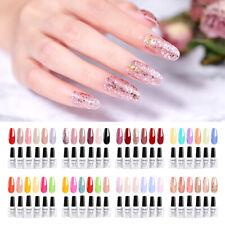 Elite99 6pcs Multi Color Gel Nail Polish Manicure Set Gift Starter Kits Top Base