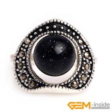 Marcasite Fashion Jewelry Ring Gift Yb 10mm Round Gemstone Beads Tibetan Silver