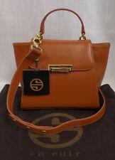 Segolene En Cuir Petite Pensee Pull Sides Shoulder Bag Purse Caramel NWT $329