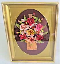 Quilling & Paper Cutting Basket of Flowers Framed – Delinda Stevenson