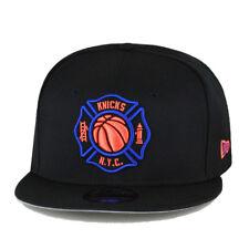 New Era 9fifty New York Knicks X FDNY Snapback Hat Black/Royal/Orange
