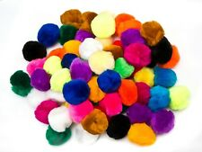 EduKit pack of 70 Large 5cm colorful Pompoms Craft Supply Bumper Pack