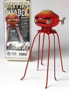 Mars Attack Marsungeheuer Blechspielzeug Roboter Martian invader Schylling space