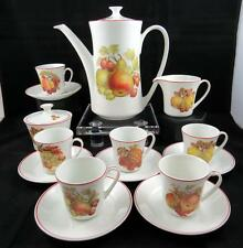 PONTESA CHINAMODA IRONSTONE 15 PC VINTAGE FRUIT MOTIF DEMITASSE TEA SET 1960's