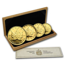 1989 Canada 4-Coin Gold Maple Leaf PF Set (10th Anniv, Box & COA) - SKU #49813